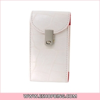 PU Leather Flip Case with Magnetic Closure for iphone 4 4S White