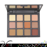 new arrival cosmetics makeup 12 matte and shimmer nice color eyeshadow palette for private label