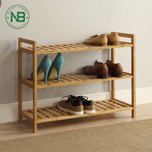 3-Tier Bamboo Wooden Shoe Rack,Bamboo Folding Shoe Rack, Entryway Shoe Shelf Storage Organizer