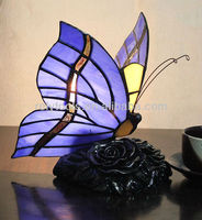 2013 cheapest glass Tiffany butterfly lamp