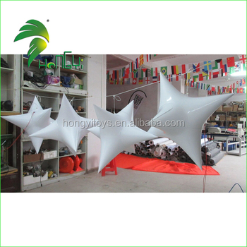 Beautiful Welding Stage Decoration Inflatable White Star With Led Light