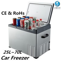 mini fridge portable refrigerator battery operated 12v dc car cooler box 25L
