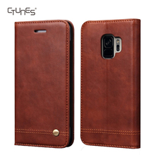CTUNES Luxury Flip Leather Wallet Card Slots Kickstand Protective Case for Samsung Galaxy S9