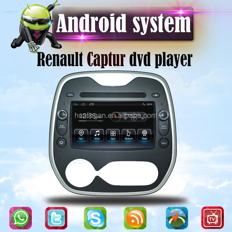 HLA car dvd player for Renault Captur android gps DVD navigation DVR radio 3G WIFI connection
