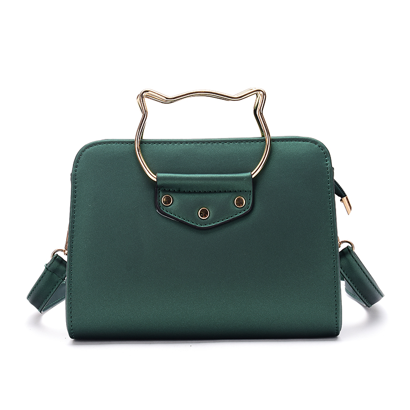 Three color cat shape hardware lady shoulder bag women hand bags shopping bag