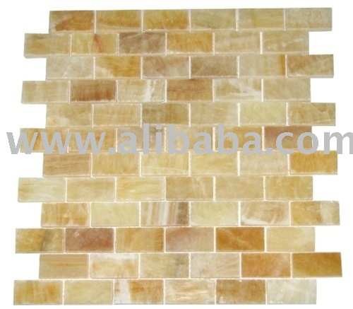HONEY ONYX BRICK SUBWAY POLISHED MOSAIC MOSAIQUE MOSAICO TILE KITCHEN BACKSPLASH BATHROOM MARBLE GLASS SHOWER WALL FLOOR TUB