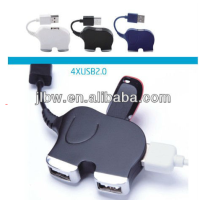 Elephant Shape Usb Hub,4 Port Usb 2.0 Hub