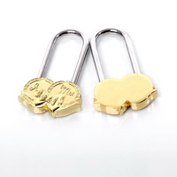Russian Fashionable Newest Heart Love Padlock for Wedding or Valentine's Day gift