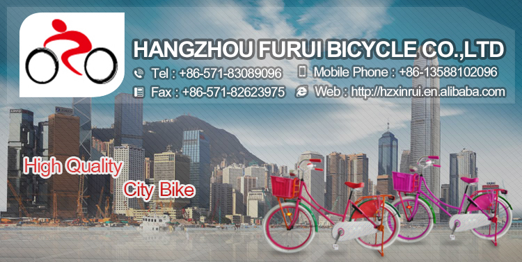 "New arrival steel frame 26"" pink city bike cheap sale"