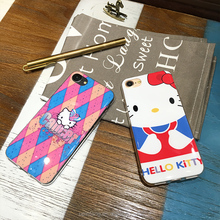 Creative cute luxury hello kitty cat animal pc TPU mobile phone case for iphone