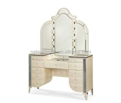 2017 new china factory direct sale wooden dressing table designs