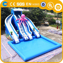 Top selling inflatable water slide with swimming pool, Giant Inflatable water slide for adult ,Inflatable slide games for sale