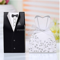 "DIY Wedding gift Boxes ""Bride and Groom""dressing Wedding Favor Chocolate packaging Box"