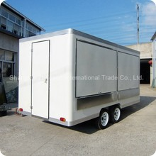 Mobile Stainless Steel Food Truck / Hot Dog & Refrigerated Food Van