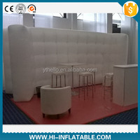 Best-sale led lighted air inflatable wall structure for event display decoration