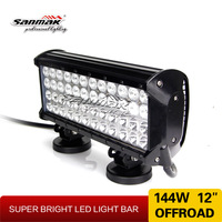 cars parts off road truck bar light high quality 144W 12inch 4x4 led light bar