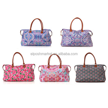 Wholesale Pulitzer Inspired Monogrammed Lilly Womens Weekend Bag