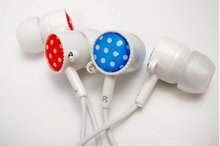 multicolor water point button headphones