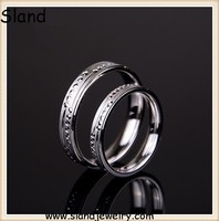 Online shopping new arrival high quality platinum plated 925 sterling silver couple lover rings made in China