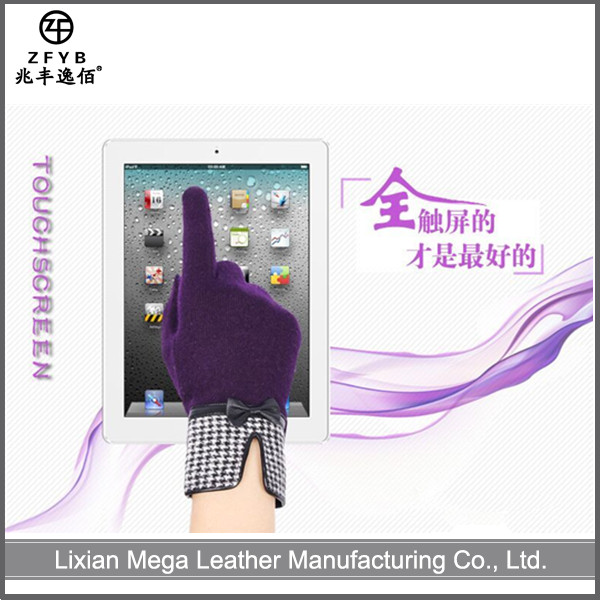 ZF5333 High quality women new touch screen wool gloves