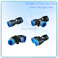 PV 8MM Pneumatic Tube Air Fitting Plastic Union Elbow L Connector Pipe Hose Push In One Touch Quick Joint Coupler PV-8
