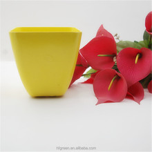 Houseware plant flower pots wholesale ,eco bamboo fiber flower plant pot