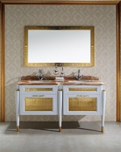FLOOR MOUNTED four legs structure KD version bathroom cabinet
