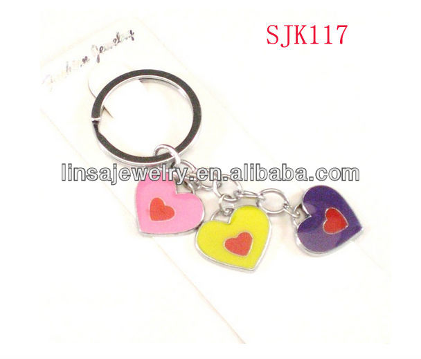 Custom Fashion Girls&Ladies Heart Shape Stainless Steel Key Chain