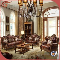 luxury antique latest sofa design, classic hand carving living room sofa design A89
