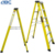 Factory price insulation 6 step A shape fiberglass ladder with plastic step