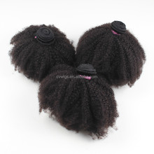 4A 4B 4C afro kinky curly virgin brazilian human hair