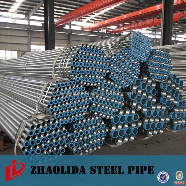 Hot Zinc Coated Iron Carbon Steel PPGI Galvanized Pipe / Tube