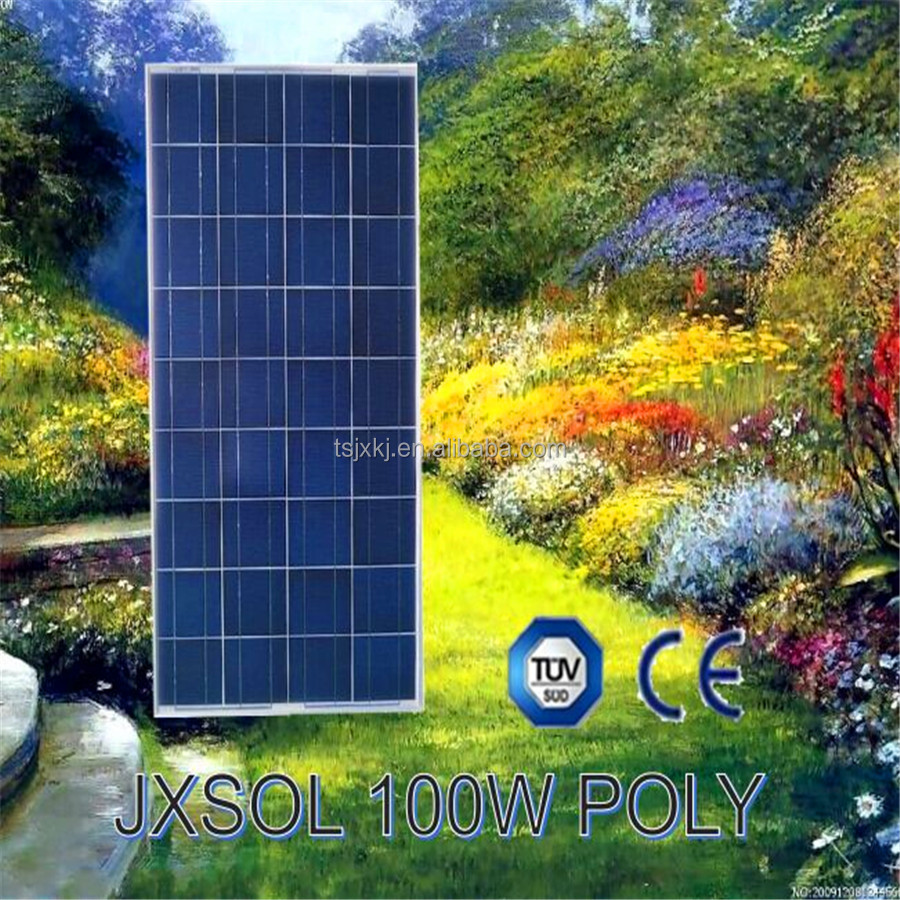 Top seller A-Grade solar panels from Hebei province 100w poly solar panel/pv module high quality JX solar