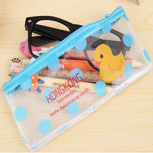 plastic pvc folding clear pencil case for promotion and gift for students