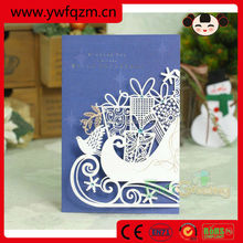 8 designs 3D blank sample high end christmas cards