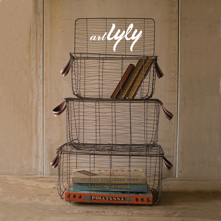 Decorative wire basket for home storage wholesale