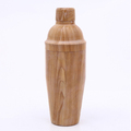 High quality stainless steel interior natural wooden unique cocktail shaker