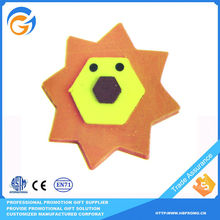 Lion Face Shaped Custom Eraser Manufacturer