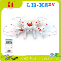 Hot sale !! X8DV MEDIUM SIZE UFO RC 2.4G Quadcopter FPV real time transmission rc drone quadcopter with camera and screen