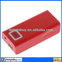5000mAh Journey Power Bank with LED Flashlight for PSP/ DC2.0/ LG/ SAMSUNG/ mp3/ Sony Ericsson-Red