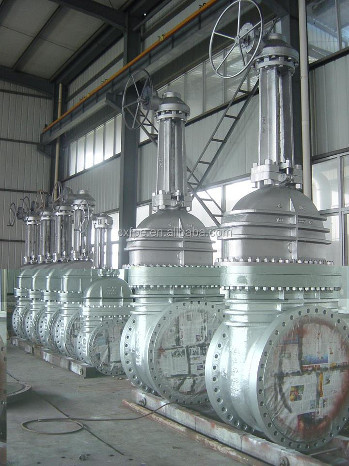 Flange Ends Rising Stem Stainless Steel Gear Operation Metal Seated Gate valve for refinery water supply