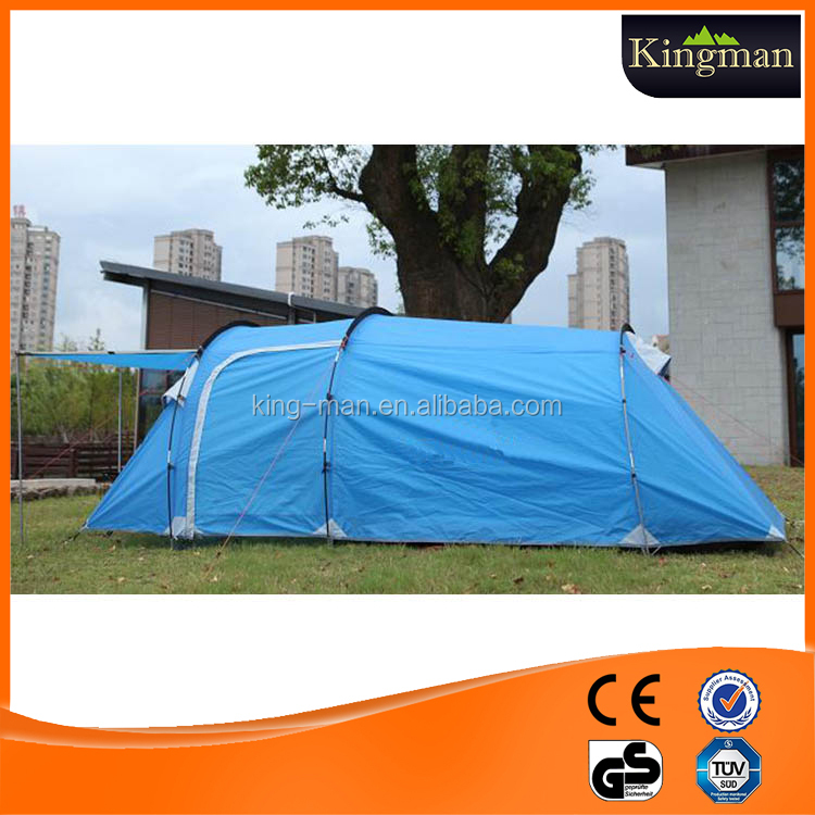 camping tent 3-person portable room with porch tunnel tent for backyards patio sun shelter