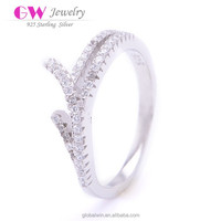 Imitation Diamond Value 925 Silver Wedding Ring Sets