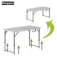 4ft 122cm portable fold in half dining table height adjustable