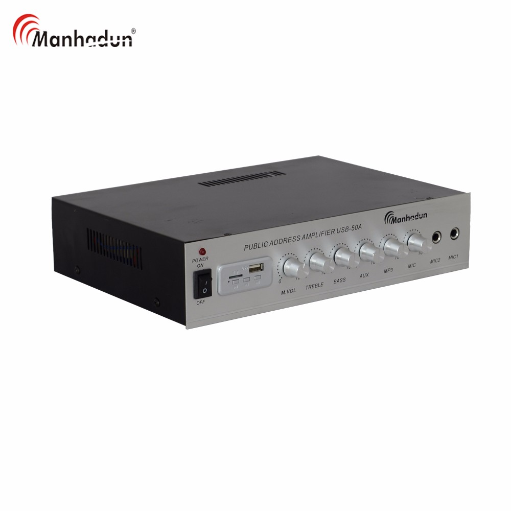 PA system Audio Mini Amplifier Mixer with USB FM SD