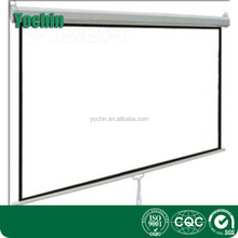 100 inches Manual Projector Screen 4:3 White matte White Case