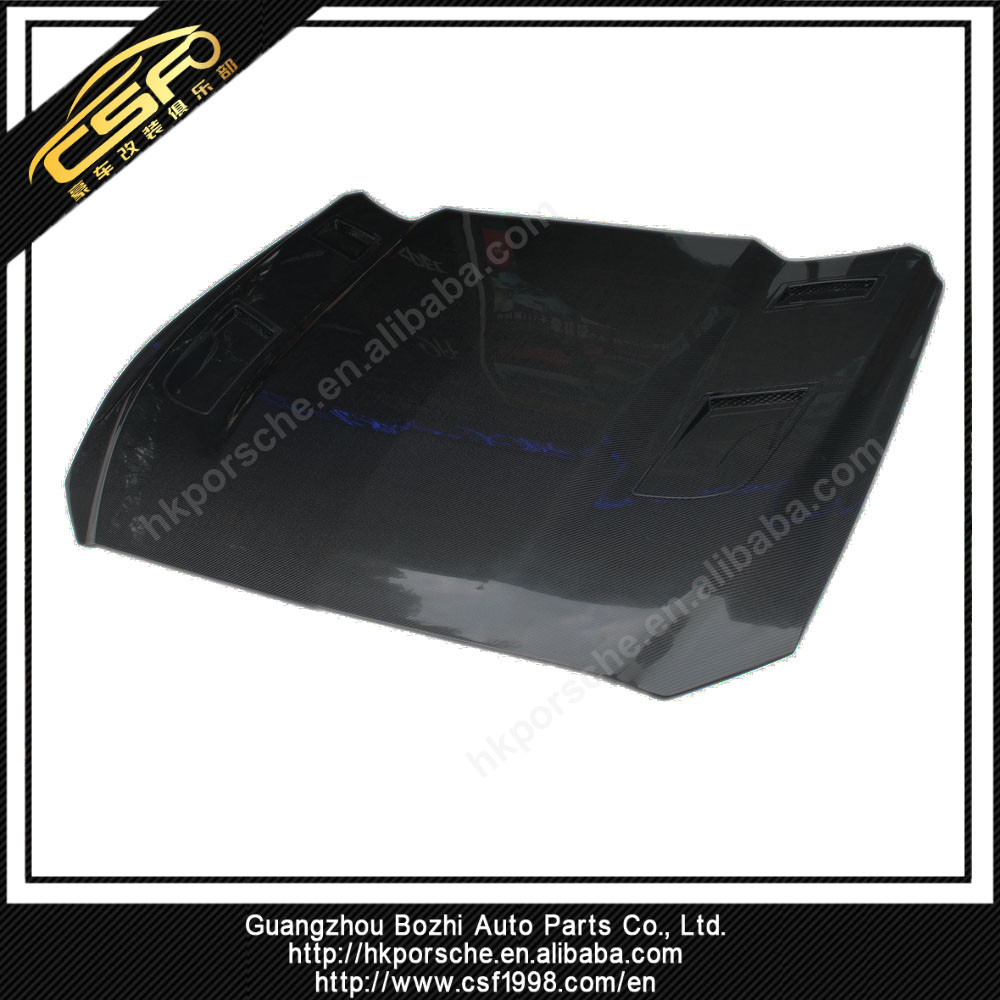 Carbon Fiber Bonnet Hood Scoop Replacement For 15up Ford Mustang