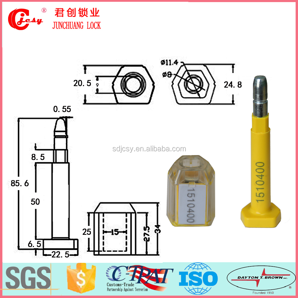 Plastic bullet seal male and female seperate bolt container seal