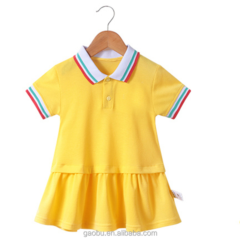 New Toddler Baby Girls Kids Summer Clothes Short Sleeve Sport Polo Skirt