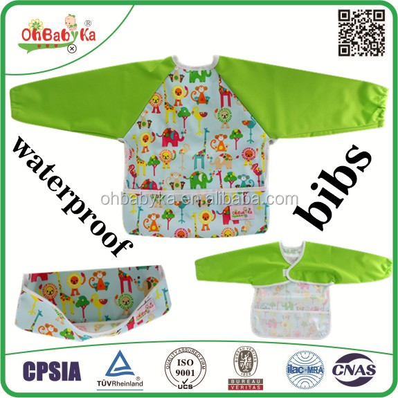 OEM baby products bib overall buckles with sleeves